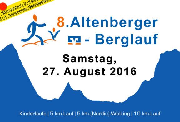 Anmeldung zum 8. Altenberger Berglauf