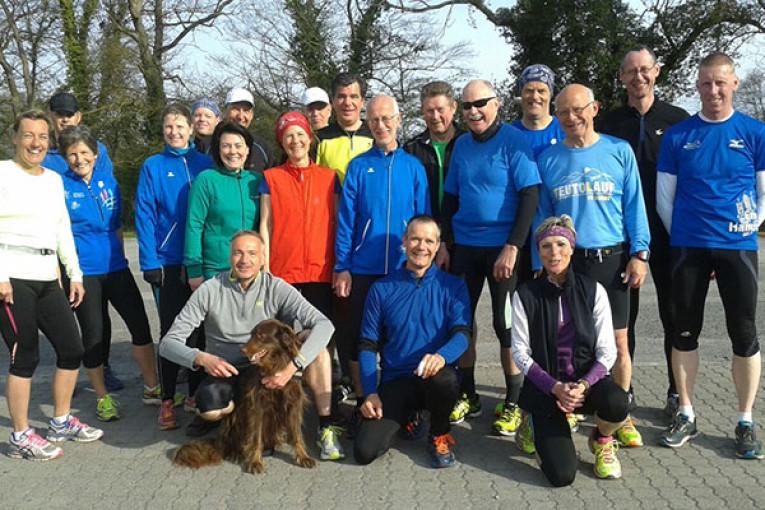 Vorbereitung der Trainingsgrupe des TuS Altenberge auf den Oberelbmarathon