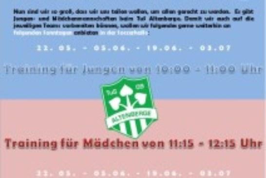 TuS Sontagstrainingsgruppe: Angebot für 4-6-jahrige FußballerInnen und die, die das werden möchten