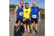 Heiner Lörcks und Norbert Sommer beim 6 h-Lauf in Handorf