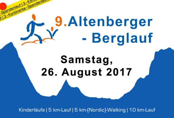 9. Altenberger Berglauf am 26. August 2017 – jetzt ANMELDEN –