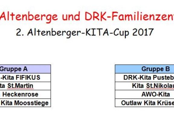 TUS Altenberge und DRK-Familienzentrum:  2. Altenberger-KITA-Cup 2017