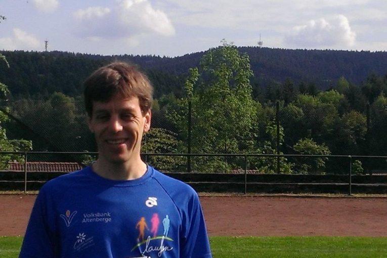 Mathias Katzer mit 2 Türmen beim 14. Turm-zu-Turm-Lauf in Georgsmarienhütte