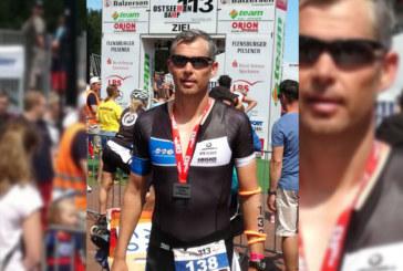 Triathlon in Damp. Ralf Winking beim Ostseemann 113