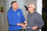 Die Laufabteilung dankt dem Mitbegründer und langjährigem Vorsitzenden der Abteilung, Karl Reinke…