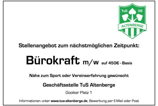Bürokraft (m/w/d) auf 450 € Basis