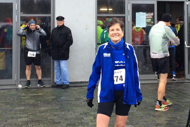 Barbara beim 10km Lauf in Bönen