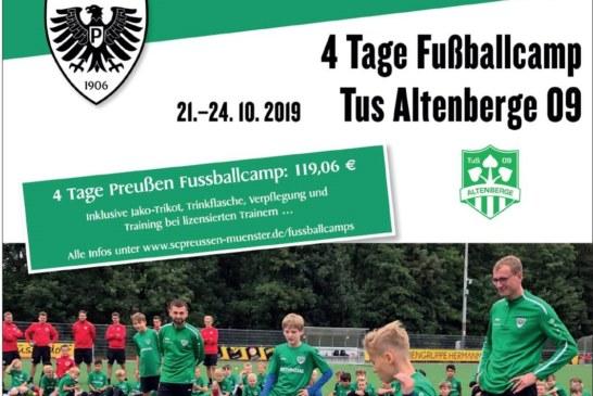 Nach dem Fußballcamp ist vor dem Fußballcamp beim TuS Altenberge 09