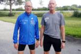Heiner Lörcks ist läuft beim DoToRo Freundschaftsmarathon als erster über die Ziellinie.