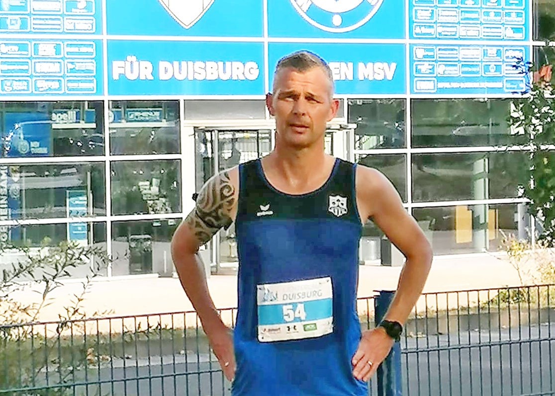 Ralf Winking über 5 km auf dem 2. AK-Platz in Duisburg