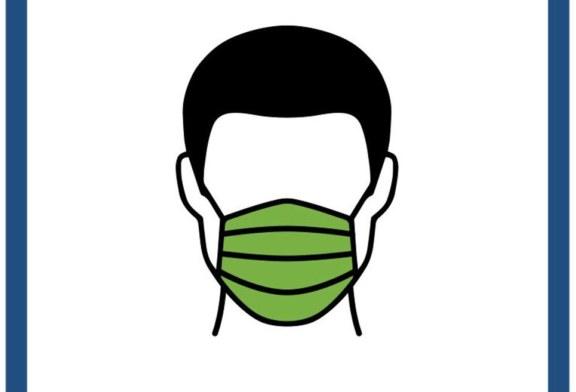 Mund-Nasen-Schutz auf dem Sportgelände für Zuschauer