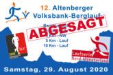 Eine weitere Veranstaltung wird abgesagt – Der 12. Altenberger Volksbank-Berglauf am 29. August 2020 findet nicht statt